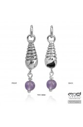 Shell with Amethyst bead charm