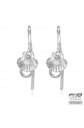 Shell hook earrings