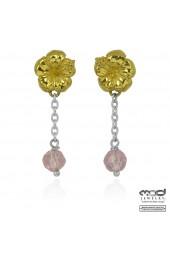MOD Surf Hibiscus bead dangle earrings