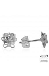 Plumeria pierced earrings