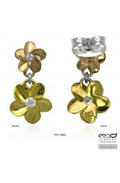 Two flower earrings