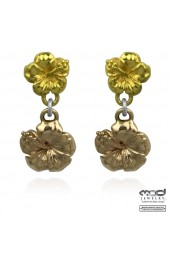 MOD Surf Two Hibiscus flower earrings