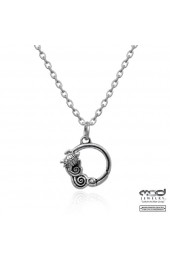 Wave & turtle clasp pendant