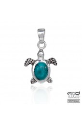 Turtle with turquoise topaz