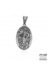 St. Christophe oval pendant