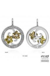 Rose gold, yellow gold plate circle pendant