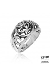 Sterling silver ring with OM designed