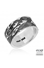 Japanese Shakudo wave men's ring