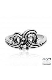 Wave and bubbles women's ring
