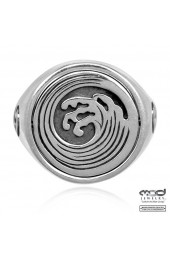 Reversible coin wave ring