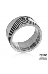 Couple's wave band ring - Men's