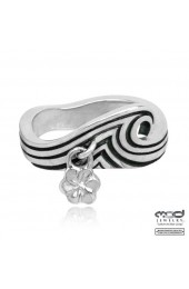Couple's wave band ring - Women's