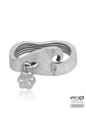 Couple's Hammered wave band ring (Woman's)