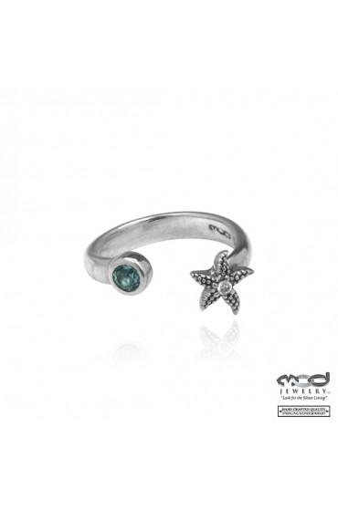 Starfish blue stone toering