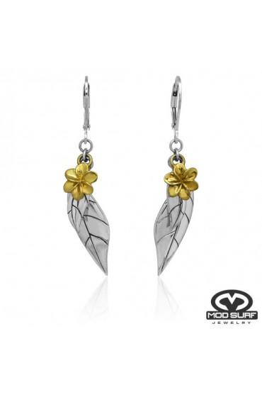MOD Surf Flora Lever back earrings