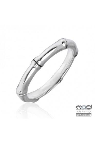Silver Bamboo Stacking Ring